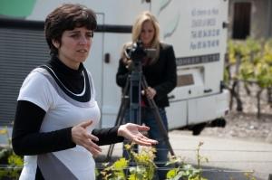 Erica Rakow shoots video for a story on Bordeaux